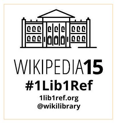 Wikipedia 1lib1ref logo