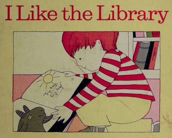 cover of book called I Like the Library
