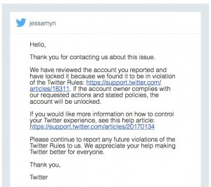 screenshot of twitter's email to me, if you need a text version email jessamyn@gmail.com