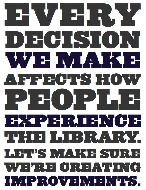 the usable library poster