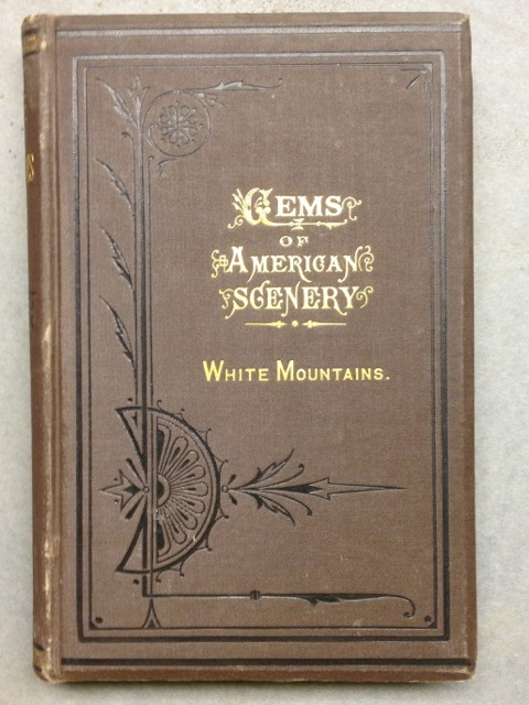 book cover, gems of american scenery, white mountains